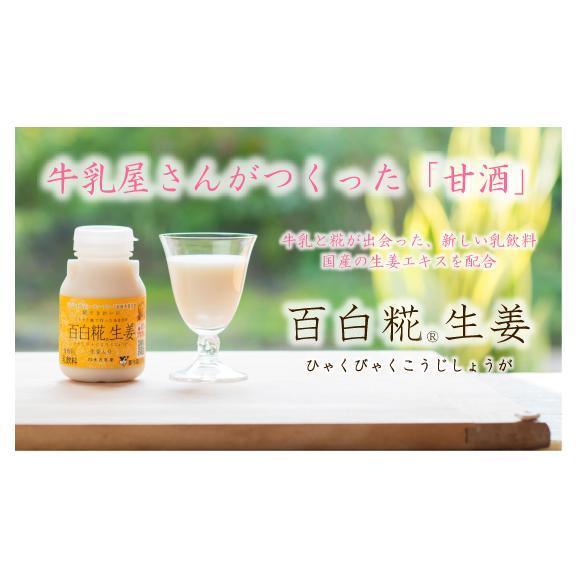 牛乳あまざけ「百白糀」~ひゃくびゃくこうじ~ 12本セット(生姜のみ) 01
