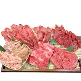 敬老の日 プレゼント 肉 ギフト 焼肉 賑わい 焼肉セット 8種 1.2kg タレ 付き 焼き肉 大阪 鶴橋 白雲台