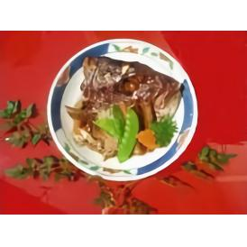 鳴門鯛 兜煮(荒焚)お一人用パック二袋 季節野菜添え