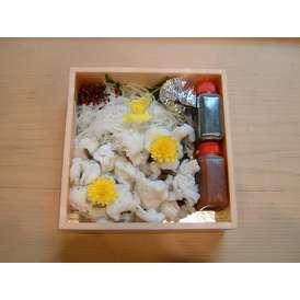 鱧の落し(当店オリジナル梅肉、山葵、醤油付)