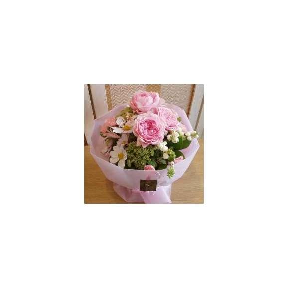 そのまま飾れる柔らかピンクのブーケS
