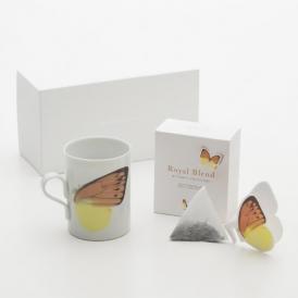 CUPやMUGのふちにかけて楽しむ紅茶「バタフライティー」