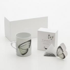 バタフライティーBUTTERFLY gift set/white&Caramel