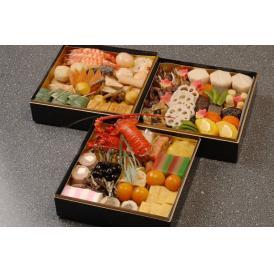 【送料無料!】伝統おせち料理 三段重(6〜8人前)