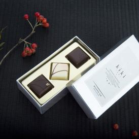 しゅんかしゅうとうkiki ボンボンショコラ3個入り 【桜・酒粕・胡麻】