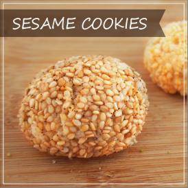 ドムドムクッキー・ごま  8個