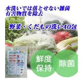 【メール便送料無料】日本のほたて貝殻焼成カルシウム100%使用! 野菜・くだもの洗い 1.2g×40包