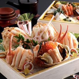 【送料無料!松葉がにおせち】松葉がに海鮮箱 琴引おせち彩重箱「間人」2段重
