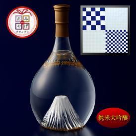 富士の酒「飛竜乗雲」 純米大吟醸(風呂敷:市松)