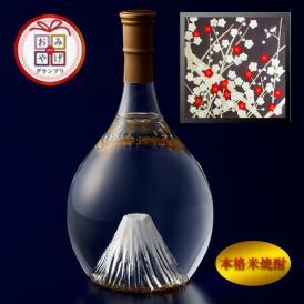 富士の酒「飛竜乗雲」 本格米焼酎(風呂敷:光悦ちりめん友禅 梅)