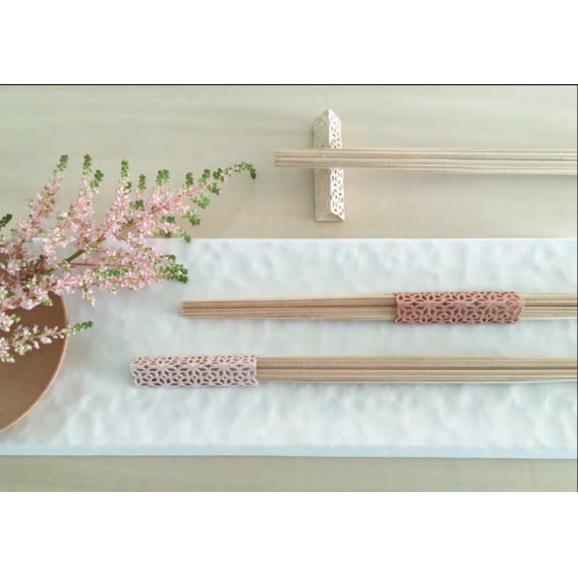 お箸飾り5個セット利久箸付き 白01