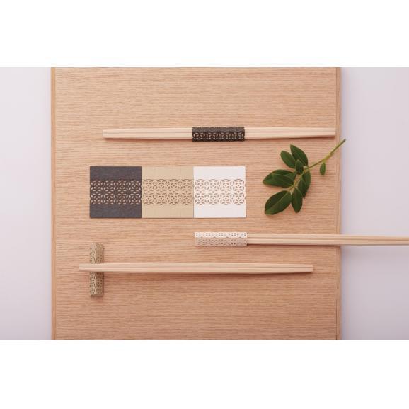 お箸飾り5個セット利久箸付き 白03