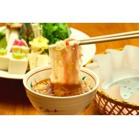 名物「出汁しゃぶ」を、銘柄豚・厳選国産豚肉2種食べ比べ 豚肉とネギ、特製出汁がベストマッチ