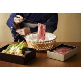 名物「出汁しゃぶ」を近江牛の上位部位 サーロインで。きめ細やかなサシのバランスをお楽しみください