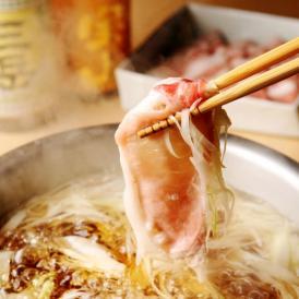 大人気!ヘルシー銘柄豚しゃぶこだわりの鹿児島産黒豚使用!銘柄豚とご一緒に、召し上がりください。