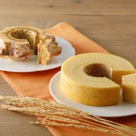 自家製粉した挽きたての米粉を使用し、米菓職人が一層一層丁寧に焼き上げた焼き立てのバウムクーヘン