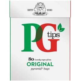 紅茶・正規輸入品・英国・ユニリバー・ピージーティップス(PG tips)ピラミッド型ティーバッグ(80袋入)