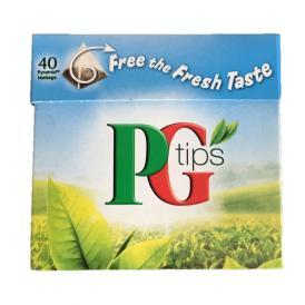 紅茶・正規輸入品・英国・ユニリバー・ピージーティップス(PG tips)ピラミッド型ティーバッグ(40袋入)