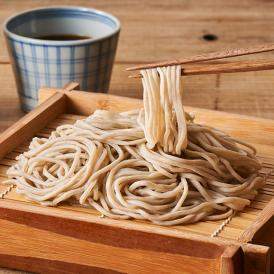 蕎麦粉100%、つなぎを使用しない蕎麦粉の香りが高い蕎麦。