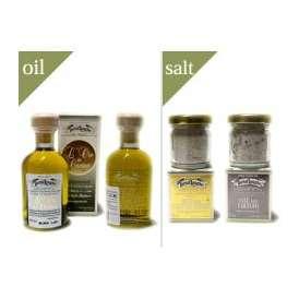 タルトゥフランゲTARTUFLANGHE トリュフオイル(白/黒)・トリュフ塩(白/黒)全4種セット