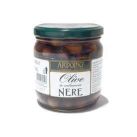 ブラックオリーブ ネレ 種付 400g(240g) アルドイノ  OLIVE NERE IN SALAMOIA