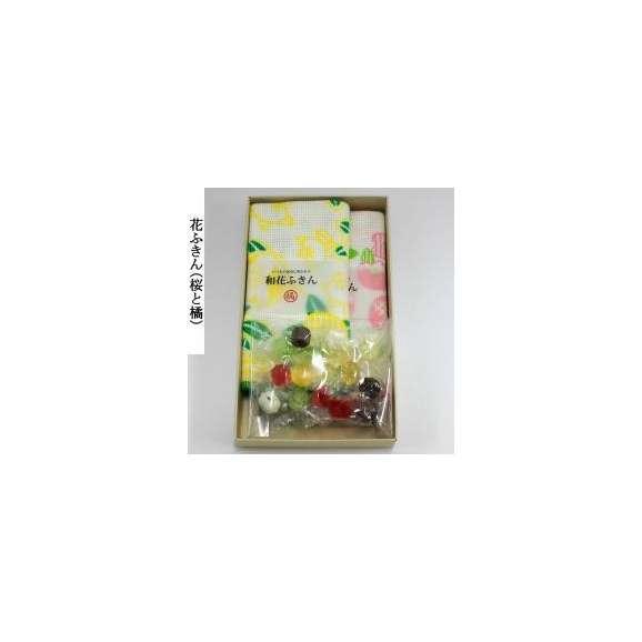 ホワイトデー 和花ふきん(2枚)と飴さんセット03