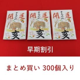11月30日まで早割☆開運干支飴【亥・いのしし】5ケース(300個)