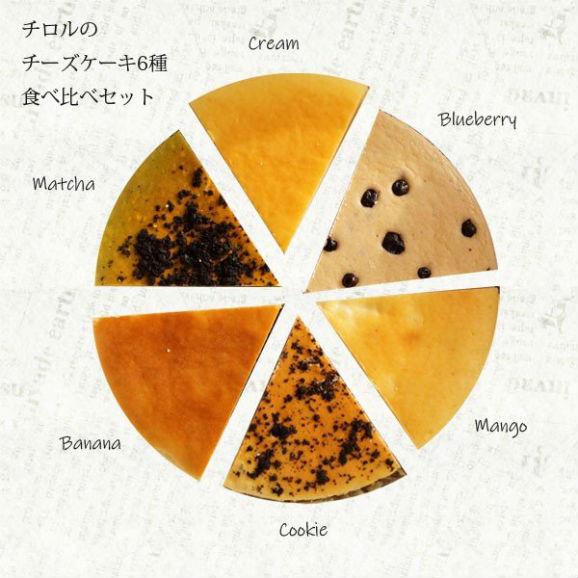 チロルのチーズケーキ 6種食べ比べセット 5号カット01