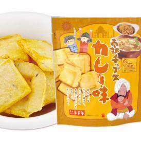 おせんべいをサッと揚げてサックサクの食感に仕上げたかる~いチップスです。