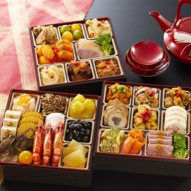 【早割】トオカツフーズ 集 つどい 和洋中三段重 3~4人前 32品 おせち【送料無料】【代引手数料無料】