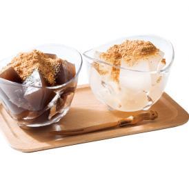 奈良吉野の本葛粉と馬鈴薯でん粉と本わらび粉をブレンドして 作ったひんやりとした冷たいわらび餅です。