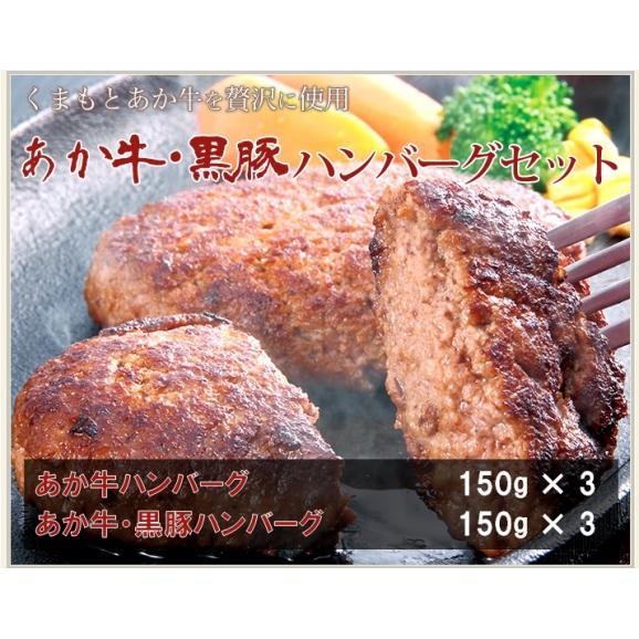 【送料無料】 あか牛・黒豚ハンバーグセット01