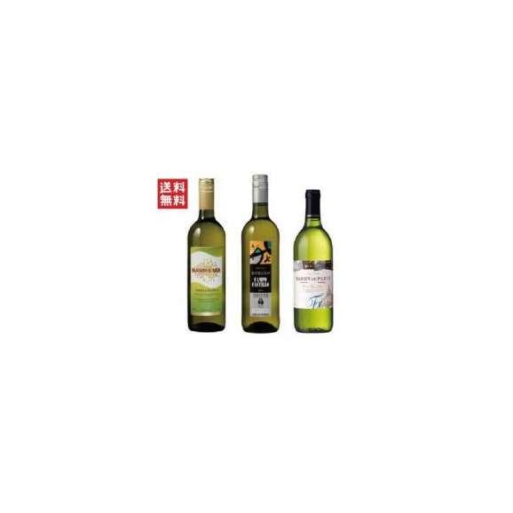 送料無料 フランス・イタリア・スペイン味巡り 白ワイン3種セット(3本)01