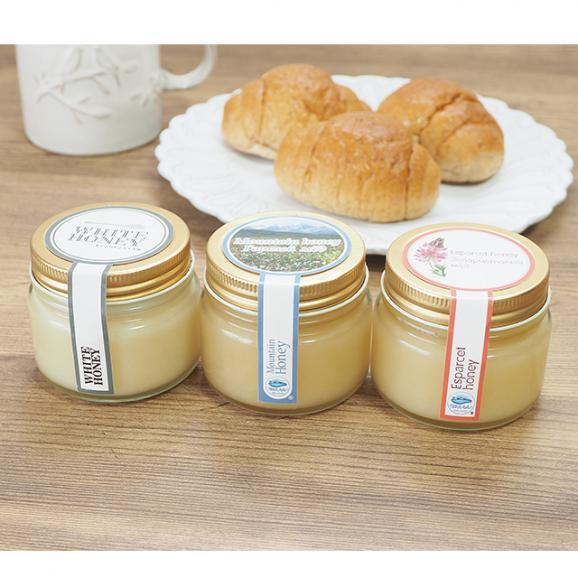 キルギスのハチミツ Mサイズ 三種類セット01