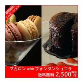 【送料無料】贅沢スウィーツセットA マカロン(12個)/フォンダンショコラ(2個)
