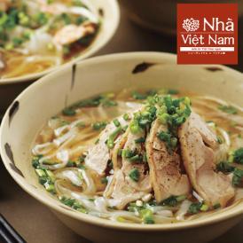 [送料無料] ニャーヴェトナム「美味しいベトナム」シリーズ フォー6人前 具材・スープ・パクチー付 [蒸し鶏/ピリ辛豚挽き肉 各3人前]お土産セット