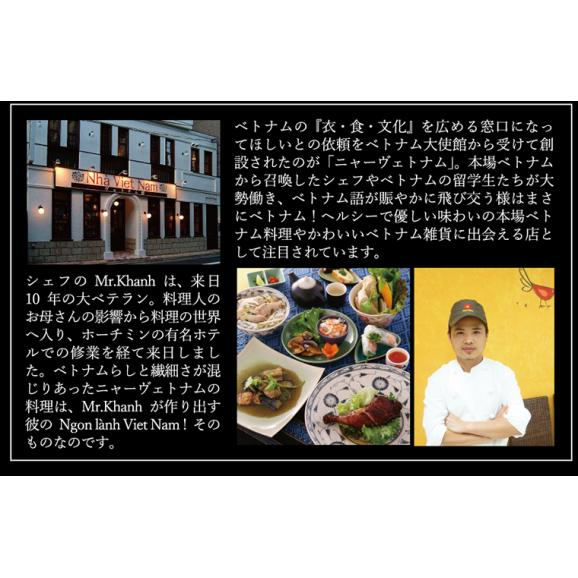 [送料無料] ニャーヴェトナム「美味しいベトナム」シリーズ フォー6人前 具材・スープ・パクチー付 [蒸し鶏/ピリ辛豚挽き肉 各3人前]お土産セット03