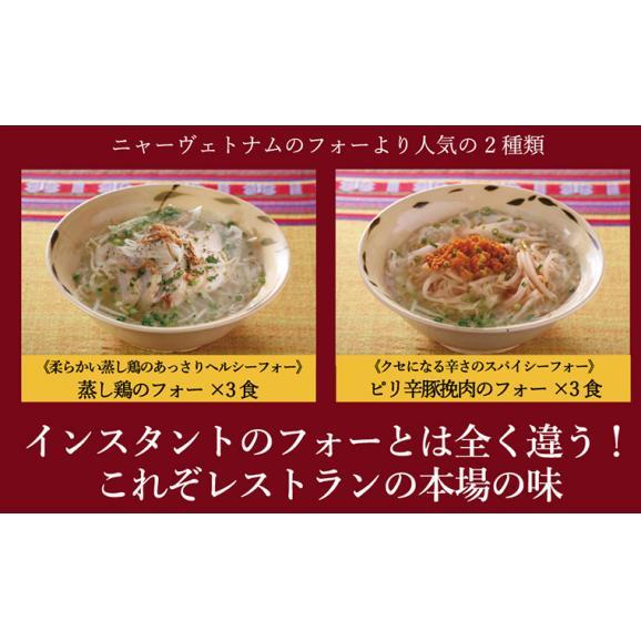 [送料無料] ニャーヴェトナム「美味しいベトナム」シリーズ フォー6人前 具材・スープ・パクチー付 [蒸し鶏/ピリ辛豚挽き肉 各3人前]お土産セット04