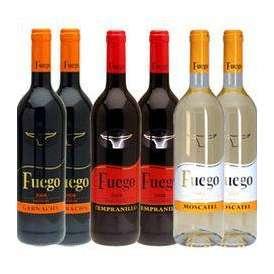 【9月1日出荷開始】  【送料無料】  スペインワイン6本セット[赤4本白2本]  12本まで1配送でお届け