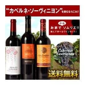 ぷちソムリエワイン[カベルネソーヴィニヨン] 3本セット[赤ワイン] 各750ml 4セットまで1配送でお届けします 北海道沖縄離島は送料無料の対象外 【9月1日出荷開始】