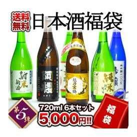 日本酒福袋 第5弾 越乃寒梅入り日本酒720ml 6本セット 2セットまで1配送でお届けします 北海道・沖縄・離島は送料無料の対象外です 【2~3営業日以内に出荷】【送料無料】
