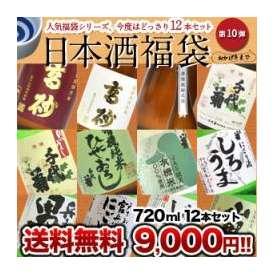 《DC》日本酒福袋 第10弾 720ml×12本  同梱不可 北海道・沖縄・離島は送料無料の対象外です 【送料無料】