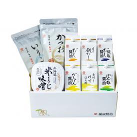 「北海道 米こうじ味噌」と「だしパック」、これからの季節におすすめの調味料を詰め合わせた 冬セレクト