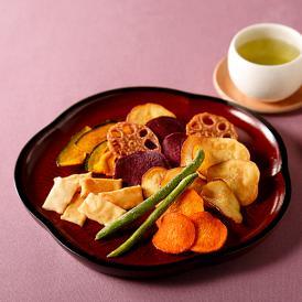 京都・山科の老舗おかき処かなだや/野菜ごのみ 缶入り(130g×2袋)