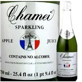 ノンアルコール シャンパン シャメイ スパークリングアップルジュースストレート【お待たせしました!! 爽やかな美味しさを堪能できるアップルスパークジュース!!】【アルコール分0.00%】