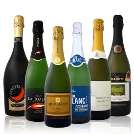 【送料無料】第6弾!≪SPARKLINGBEST6!≫京橋ワイン・ベストセラー・辛口スパークリングワイン!ダントツ超人気だけ6本大満足セット!