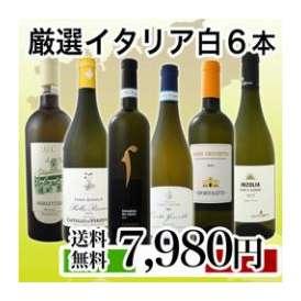 【送料無料】イタリア大満喫厳選極旨白ワイン6本セット!!