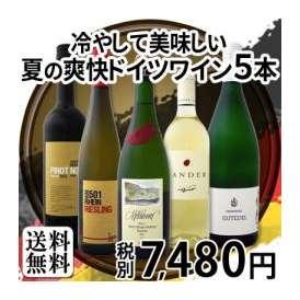 【送料無料】格上ゼクト入り!!暑い夏におすすめ!!全部当店独自輸入!!爽快ドイツワイン5本セット!!