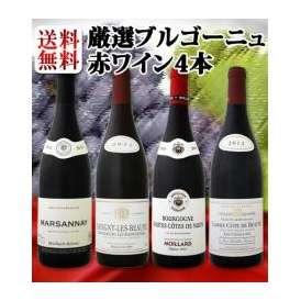 【送料無料】特大感謝の厳選ブルゴーニュ赤ワイン4本セット!