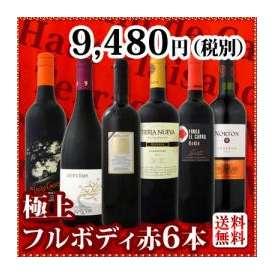 【送料無料】第2弾!≪欧州から新大陸まで濃厚赤ワイン好き必見!≫大満足のフルボディ6本セット!